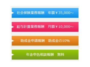 和歌山の社会保険労務士報酬